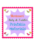 BABY AND TODDLER EDUCATIONAL MATERIAL MONTESSORI