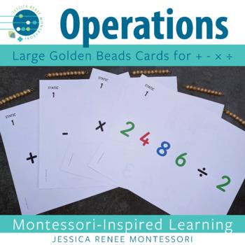 Montessori Big Card Operations Bundle