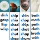 Montessori Blue Level Consonant Digraph Word Lists