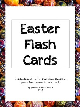Montessori Classified Cards Easter Flash Cards Vocabulary