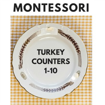 Montessori Counters - Thanksgiving Theme