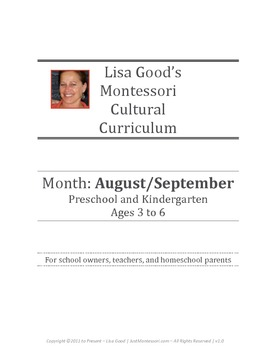 August/September Cultural Curriculum Weeks 1-5 (Northern H