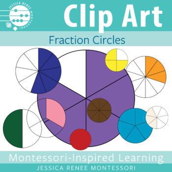 Montessori Fractions Clip Art
