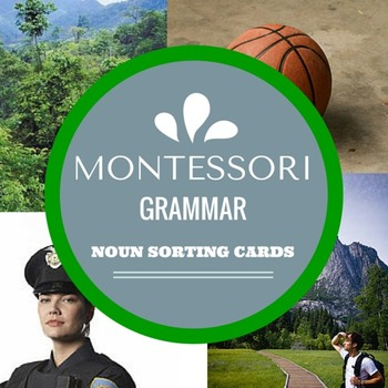 Montessori Grammar Noun Sorting Cards with REAL IMAGES