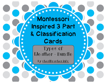 Montessori Inspired 3 Part Cards: Types of Weather - MEGA