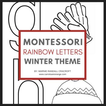 Montessori Language Letter Writing Practice - RAINBOW LETT