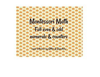Montessori Math Fall Even & Odd Numerals & Counters