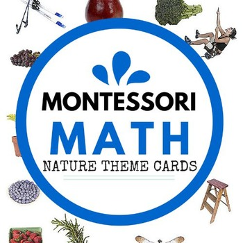 BEAUTIFUL Montessori Math Number Cards - NATURE THEME