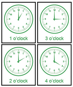 Montessori Math - Time Exercise (whole hour)