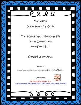 Montessori Ocean Life 3-Part Cards