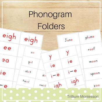 Montessori Phonogram Reading Folders