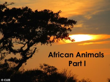 African Animals : PowerPoint using Montessori principles