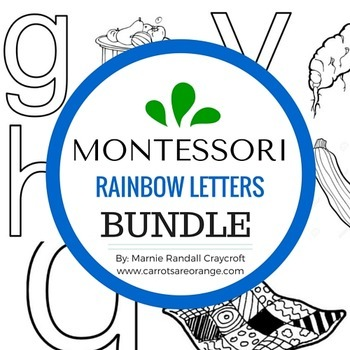 Montessori  - RAINBOW LETTERS BUNDLE  - FIVE THEMATIC SETS