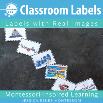 Montessori Shelf Labels with Photos