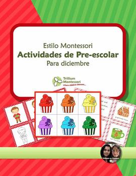 Montessori Style Preschool Activities for December SPANISH