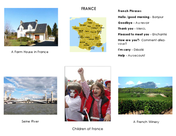 Montessori : Name that country France and Label the parts