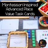Montessori math: advanced place value task cards