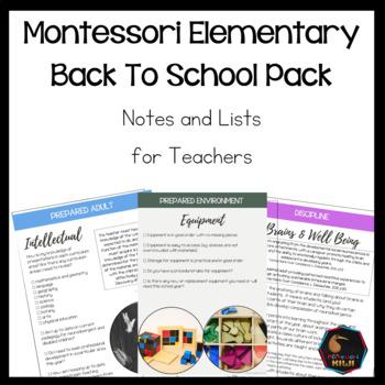 Montessori back to school pack