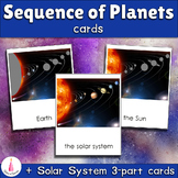 Montessori Sequence of Planets Matching Cards + 3-part Cards