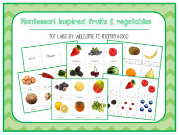 Montessori inspired fruits and vegetables unit