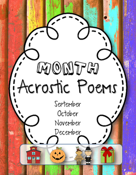 Write Your Own Acrostic Poems for the Month!