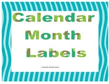 Month Calendar Labels