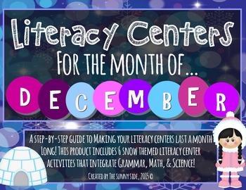 Month-Long Literacy Centers: Winter Wonderland