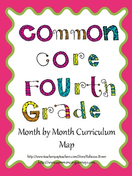 Month by Month Fourth Grade ELA Map