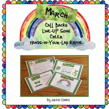 Month-by-Month March Transition Rhymes & Chants