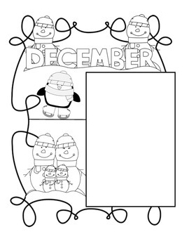 Month by Month Portfolio Pages:  December through February