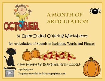Month of Articulation October: 31 Open-Ended Coloring Work