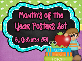 Month's of the Year Poster Set
