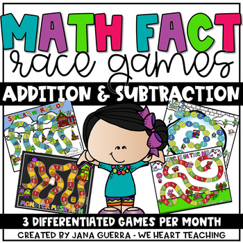 Addition and Subtraction Races (Monthly Bundle)