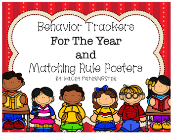 Monthly Behavior Chart and Matching Rules Posters