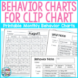 Monthly Behavior Charts for Clip Chart EDITABLE