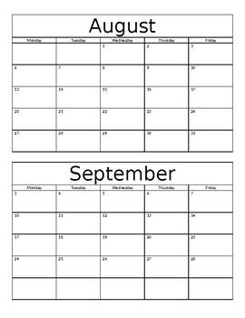 Monthly Behavior Log