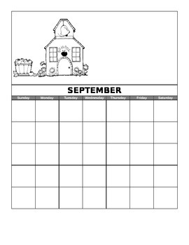 Monthly Bilingual Calendars