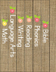 Binder Covers by Subject-Burlap, Floral and Pastel (Spines