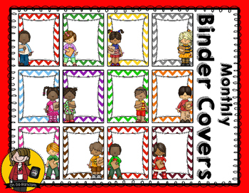 Monthly Binder Covers   Color