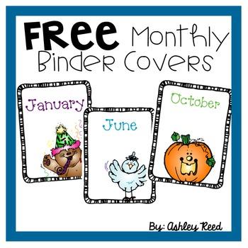 Monthly Binder Covers FREEBIE