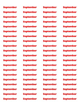 Monthly Book Labels