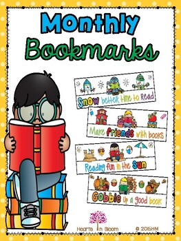 Monthly Bookmarks (Freebie)