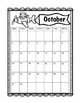 Monthly Calendar August-May 2016-2017 (Airplane/Travel theme)