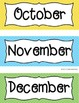 Monthly Calendar Cards- Bright Polka Dots