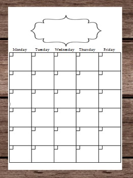 2016 Blank Calendar Schedule - Lesson Plans - Notes - To D
