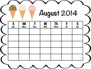 Monthly Calendars 2014 - 2015
