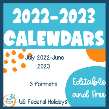 Monthly Calendars for the 2016-2017 School Year