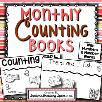Interactive Counting Books --- Monthly Counting Books for