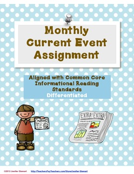 Monthly Current Event Assignment Aligned with CCS (Differe