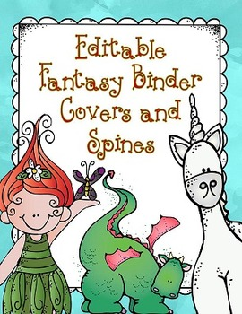 Fantasy Theme Binder Covers - Editable Version Included